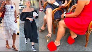 Что модно этим летом Как выглядят россияне Прогулка по Петербургу Как одеты россиянки Стрит стайл