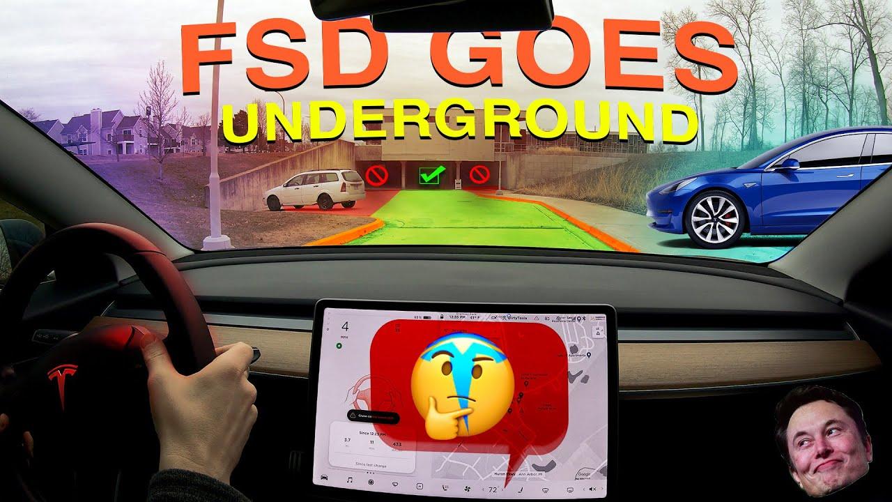 Tesla's Full Self Driving Goes Underground! | FSD Beta Update V8.2 2021.4.11.1