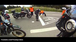 Une Vingtaine de Motards s