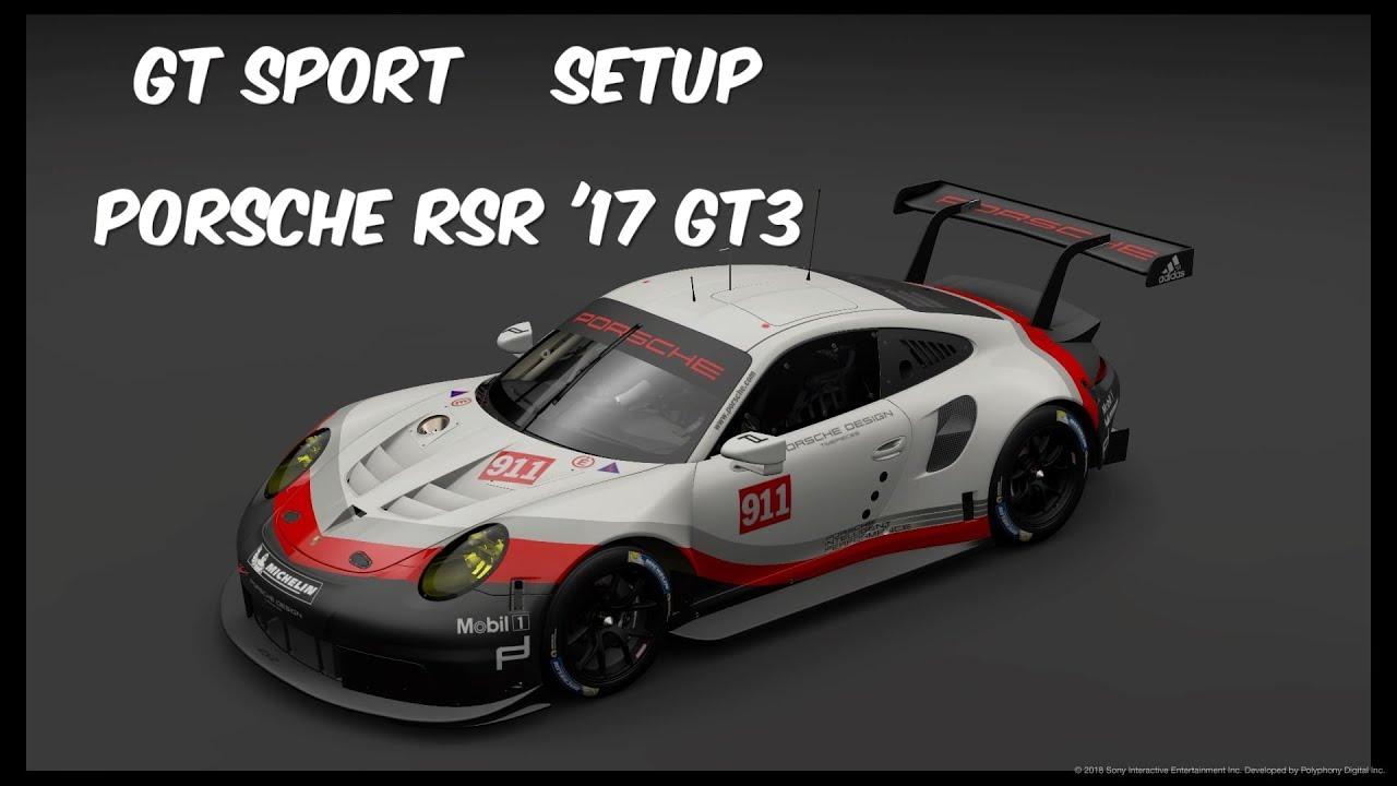 GT Sport - Setup Porsche RSR '17 - GT3  Red Bull Ring
