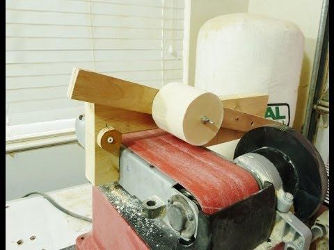 making large dowels with a belt sander youtube. Black Bedroom Furniture Sets. Home Design Ideas