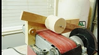 Making  Large Dowels With A Belt Sander