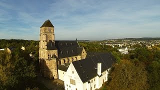 Chemnitz - Schloßkirche und Schloßteich