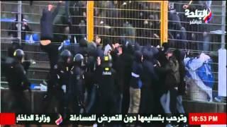 الشرطة تمنع حدوث «مذبحة بورسعيد جديدة» في الدوري السويسري (فيديو)