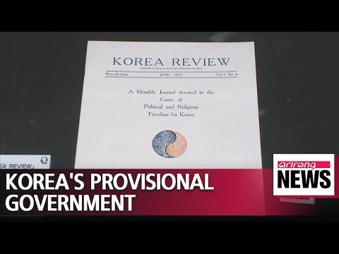 Korea's Provisional Government established in 1919 in Shanghai