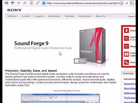 видео уроки Sony Vegas: видео Уроки Sound Forge