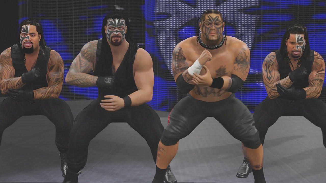 WWE 2K16 Mods - Umaga Joins Samoan Shield - YouTube