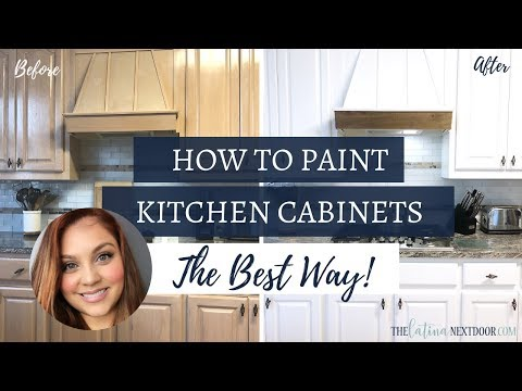 HOW TO PAINT YOUR KITCHEN CABINETS THE BEST WAY - How To Paint Kitchen Cabinets Without A Sprayer