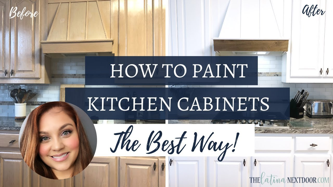 How To Paint Your Kitchen Cabinets The, How To Paint Kitchen Cabinets White With A Sprayer