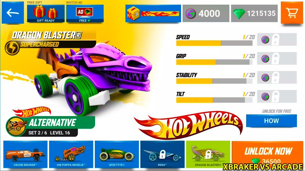 Hot Wheels: Race Off - New Vehicle Dragon Blaster Supercharged Unlocked Android Gameplay