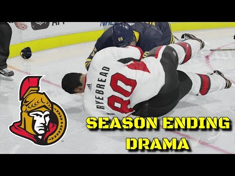 SEASON ENDING DRAMA - NHL 18 - Ottawa Senators Be A Pro Ep. 17