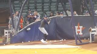 Brewers batting practice: Grandal, Yelich, Moustakas, Gamel @ Houston...6/11/19