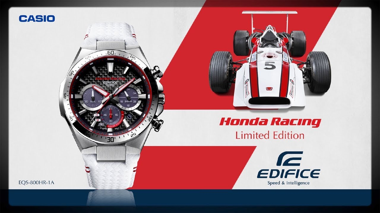 dfab6032989f CASIO EDIFICE Honda Racing Limited Edition EQS-800HR - YouTube