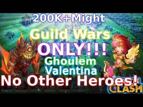 Castle Clash Ghoulem& Valentina Solo Guild Wars_No Other Heroes Use!!