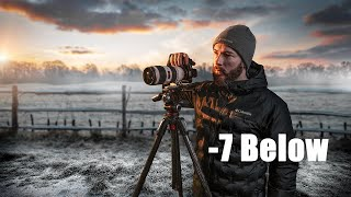 WINTER SUNRISE PHOTOGRAPHY at -7 Below Freezing!! (SONY A73)