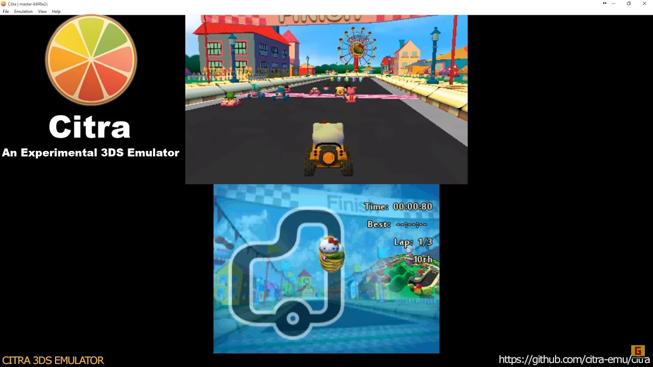 264bda24b Citra 3DS Emulator - Hello Kitty and Sanrio Friends 3D Racing Ingame! +  audio dsp hle