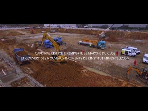 Chantier de l'Institut Mines Télécom. Episode n°1 : Terrassement et fondations spéciales
