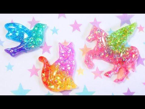 UV Resin Rainbow Animals: Daiso Dollar Store Mold