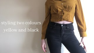 how to style two colours: yellow and black | miss brittany