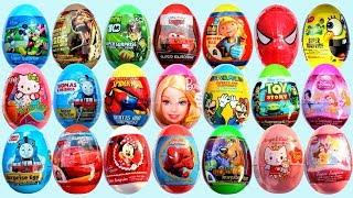 Яица с сюрпризом, игрушками и конфетами. Обучение цветам