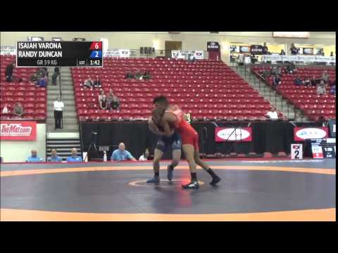 59 kg R1 - Isaiah Varona (NYAC) vs Randy Duncan (Air Force WC)