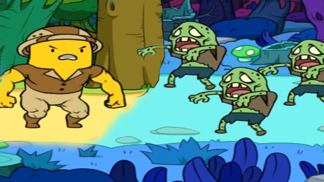 ПУТЕШЕСТВИЕ БАНАНА + Много Зомби в игре BANATOON Treasure hunt! Побег от злых Героев #2