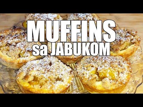 RECEPT: MAFINI SA JABUKOM (KAKO SE SPREMA MUFFINS) sa pripremom i sastojcima