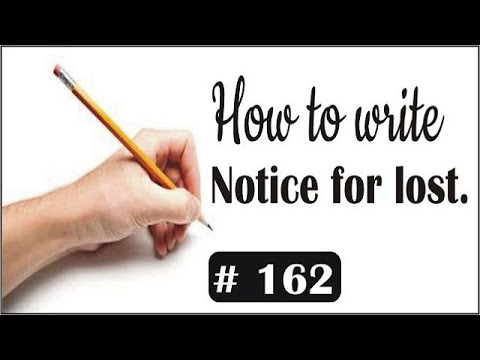 how to write notice writing