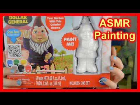 (( ASMR )) Painting : Ceramic Garden Gnome