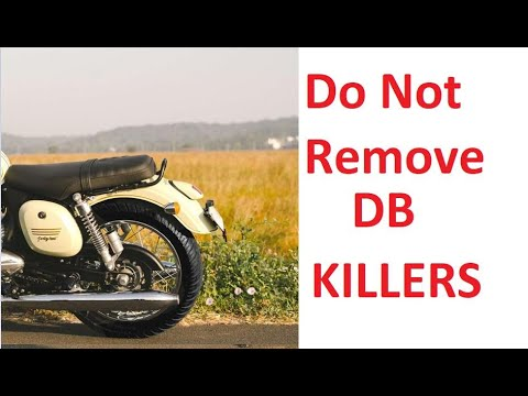 Do Not Remove DB Killers From Jawa 42 #JAWA #DualChannelABS #DBKiller
