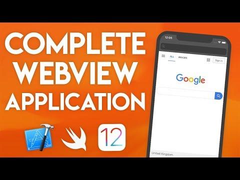 Swift 4.2 Xcode Tutorial - Web View Application Part 1 - IOS 12 Geeky Lemon Development