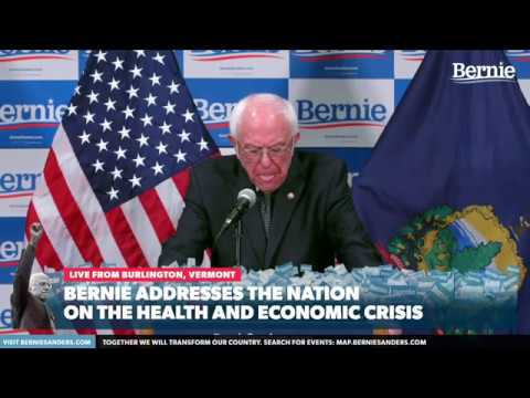 Bernie Addresses the Nation on the Health and Economic Crisis