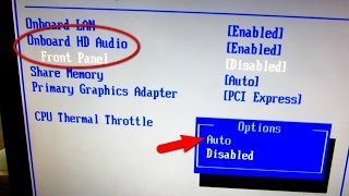 How To Enable Front Panel Audio From BIOS ASRock N68C S UCC