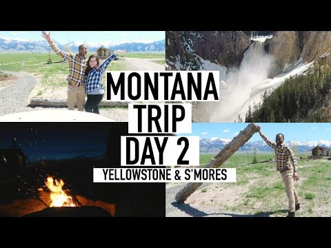 BOZEMAN MONTANA DAY 2 // YELLOWSTONE, WILDLIFE & S'MORES // TRAVEL VLOG