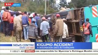 Lorry rams into, kills boda boda man who was being chased by police