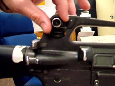 M16 Iron Sight Adjustments Youtube