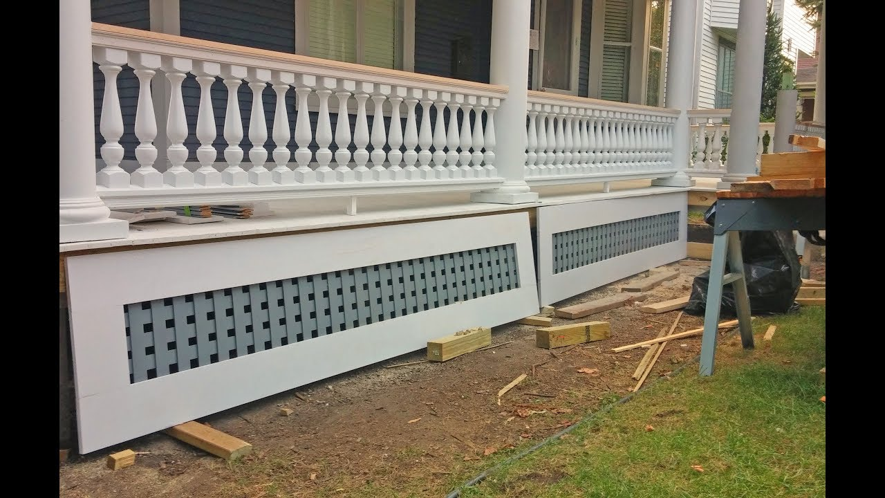 How To Install Wood Porch Railing Balusters Newel Posts Youtube   Wood Baluster Deck Railing   Temporary   Surface Mount   Pre Built   Side Mounted   Hardwood