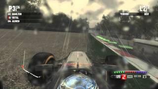 F1 2011 Monza Heavy Rain GAMEPLAY