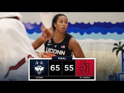 UConn Women's Basketball Highlights v. St. John's 11/23/2018 (Paradise Jam Tournament)