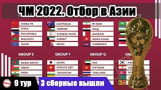 Чемпионат мира 2022 Отбор в Азии 9 тур Результаты Расписание Таблицы