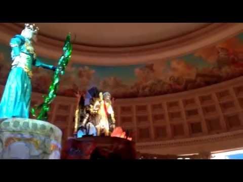"""""""Fall of Atlantis"""" show at Cesar's palace The Forum Shop December 2013 @LasVegasNV"""