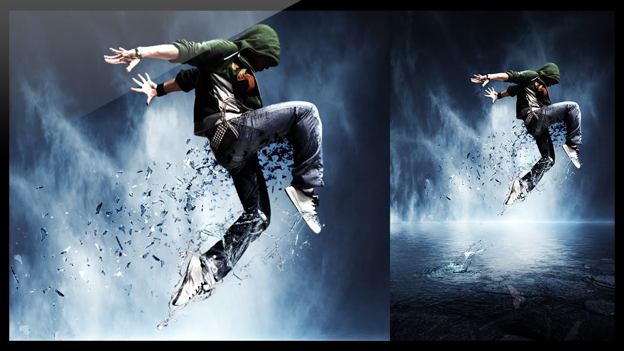 Photoshop - Photo Manipulation - Break Dance - YouTube