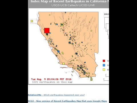 Mw 5.1  Earthquake Northern California Upper lake California 8/9/2016
