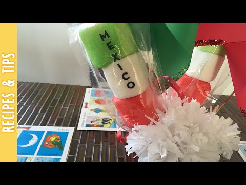Mexican Flag Marshmallow Kebabs with Kool-aid- The290ss
