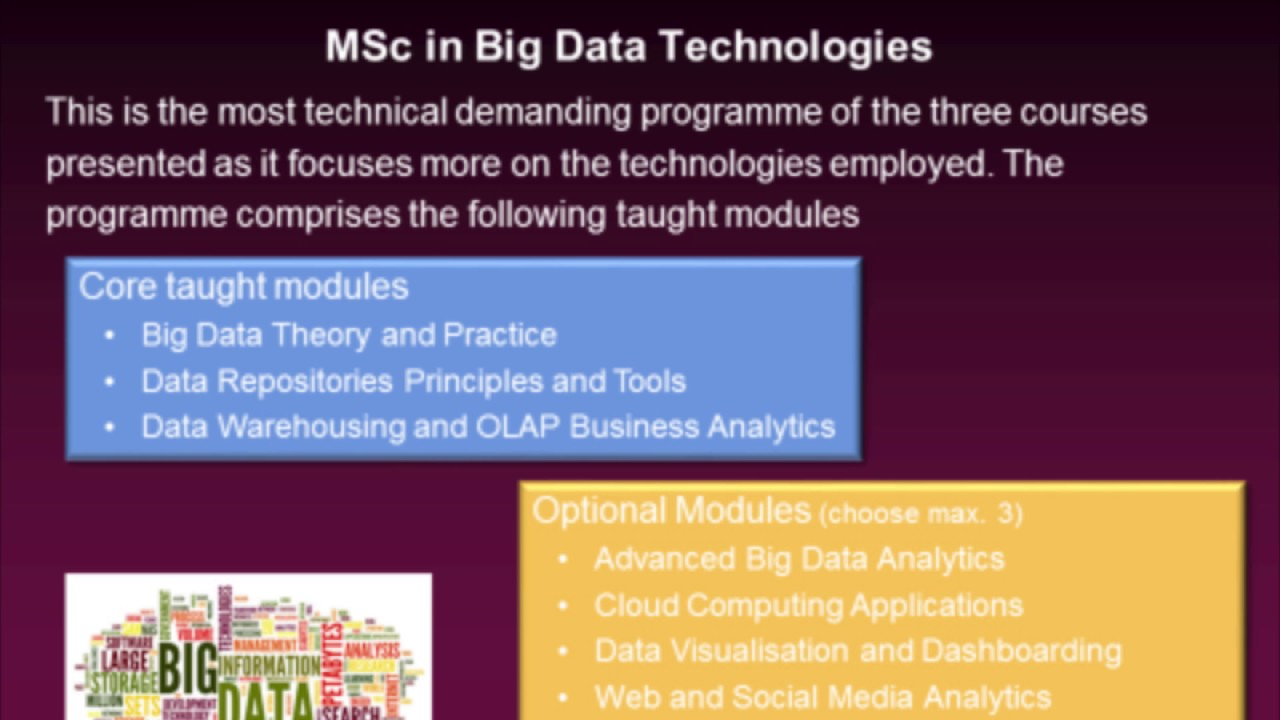 Business Intelligence and Analytics MSc - Courses