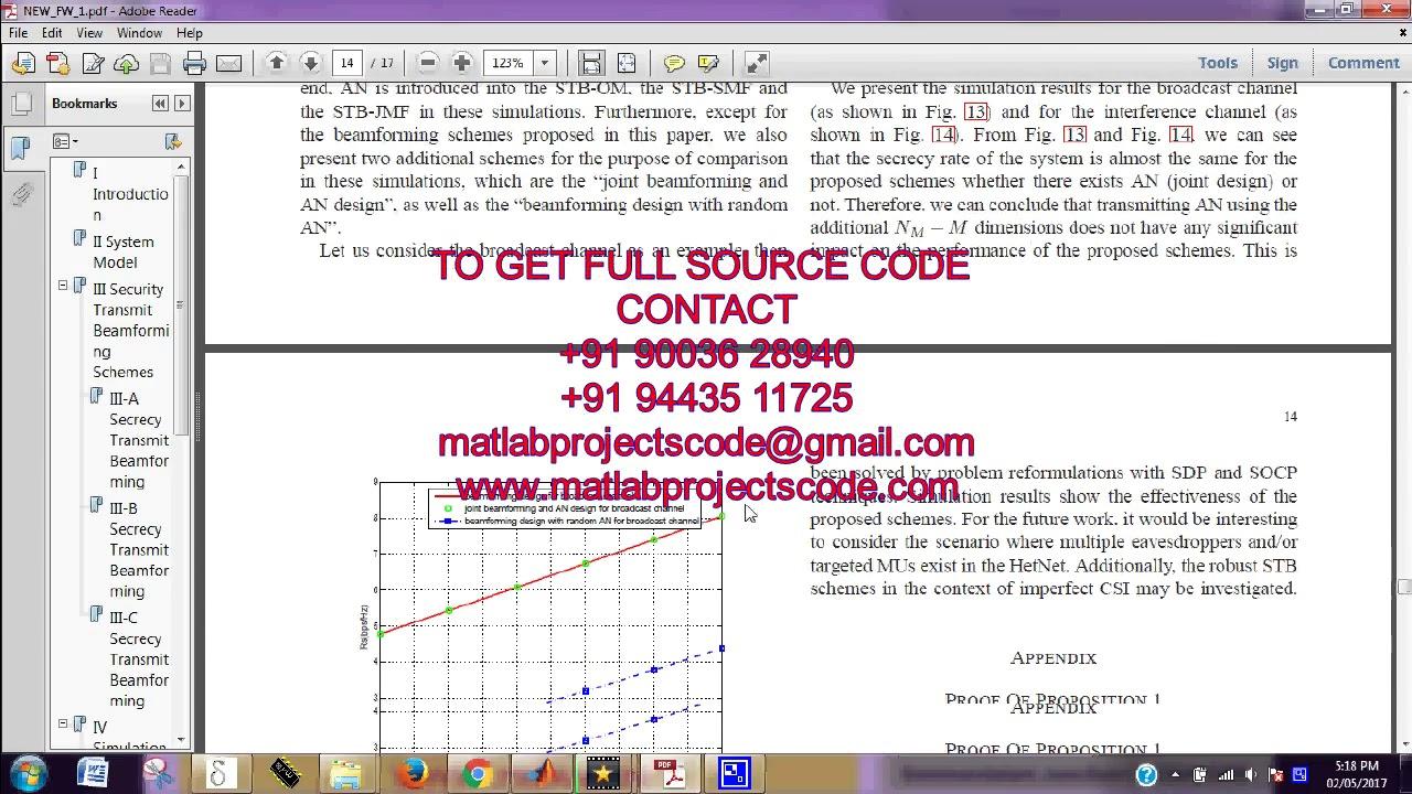 Matlab code for Secrecy Transmit Beamforming for