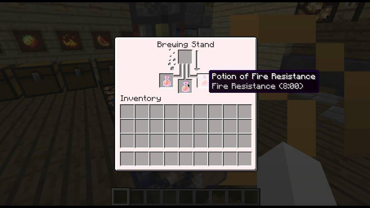 Minecraft comment faire un potion de r sistance au feu - Video de comment faire l amour au lit ...