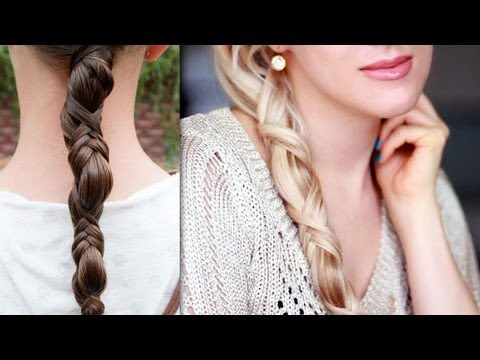 "Astrid braid hair tutorial from ""How to train your dragon"" Criss cross ponytail hairstyle"