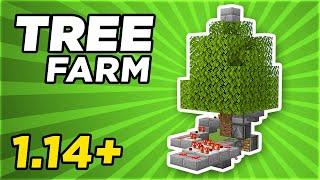 Very Simple & AFK Tree Farm 1.14.4 | Minecraft Tutorial