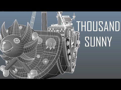 Thousand Sunny ~ 3D Modeling Timelapse